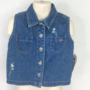 OshKosh B'Gosh Sleeveless Denim Blue Jean Shirt
